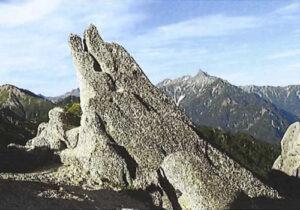 表紙「イルカ岩と槍ヶ岳 (燕岳)」